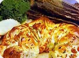 Receita de Rocambole de Pão com Recheio de Presunto