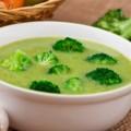 Sopa de Creme de Brócolis e Couve-flor