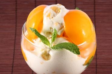 Receita de Sorvete de Pêssego - sorvete-de-pessego