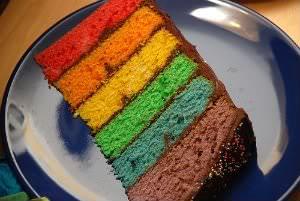 Receita de Bolo Arco-Íris - bolo-arco-iris