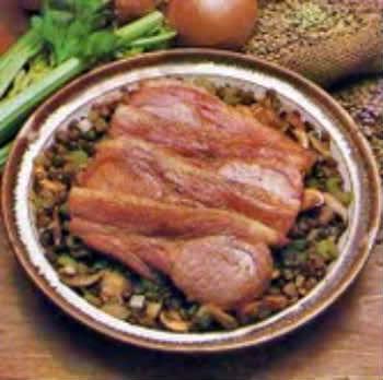 Receita de Costeletas Defumadas com Lentilhas - costeletas-defumadas-com-lentilhas