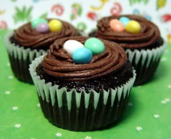 Receita de Cupcake Ninho de Aves - cupcake-ninho-de-aves