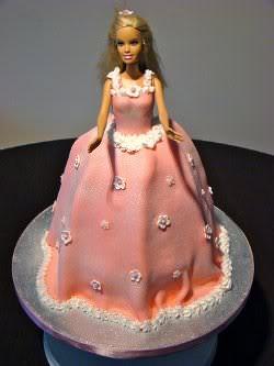 Receita de Bolo Barbie
