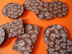Receita de Placas, Arabescos e Enfeites de Chocolate  - Placasdechocolatecomtransfers