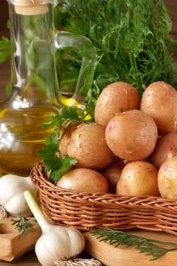 Receita de Batatas em Conserva