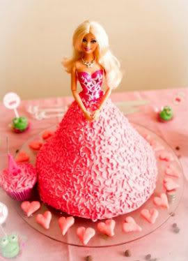 Receita de Bolo Boneca Barbie