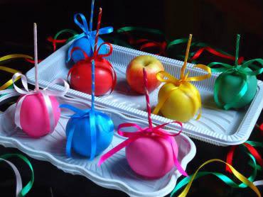 Receita de Maçãs Coloridas - macas-coloridas