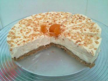Receita de Torta Gelada de Amendoim