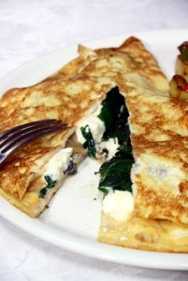 Receita de Omelete com Ricota e Espinafre - omelete-com-ricota-e-espinafre