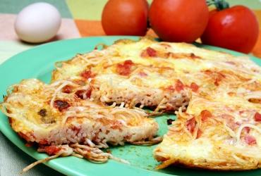 Receita de Pizza Espaguete - pizza-espaguete