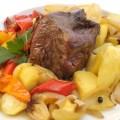 Carne Assada com Legumes
