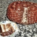 Bolo de Mousse de Nutella e Cobertura de Ganache