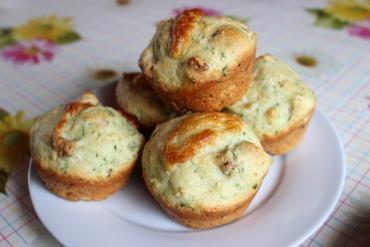 Receita de Muffin de Queijo e Bacon - muffin-de-queijo-e-bacon