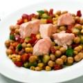 Salada de Grão de bico com Peixe