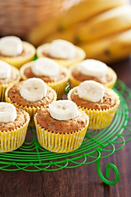 Receita de Muffins de Banana - muffins-de-banana