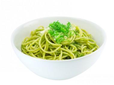 Receita de Espaguete ao Pesto - Espaguete-ao-pesto-380x285
