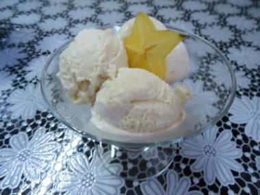 Receita de Sorvete de Carambola - Sorvete-de-carambola-380x285
