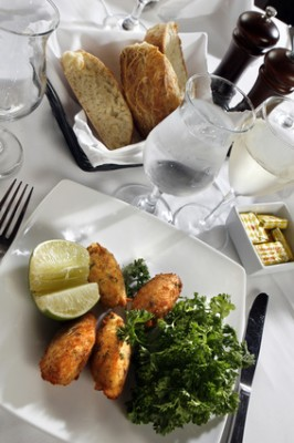 Cod fish croquette appetizer
