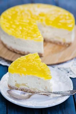 Receita de Cheesecake de Abacaxi - Cheesecake-de-abacaxi-266x400