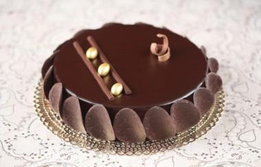 Chocolate Glazed Mousse Cake