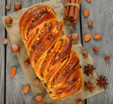 Twisted sweet bread