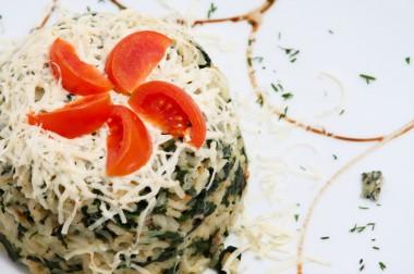 Arroz com espinafre