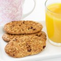 Healthy breakfast  - muesli cookies