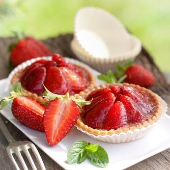 Receita de Tortinha de Morango - Tortinha-de-morango