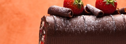 Rocambole de Chocolate e Morango