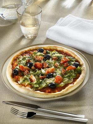 Receita de Pizza de Escarola - Pizza-de-escarola