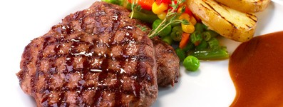 Bife com Legumes