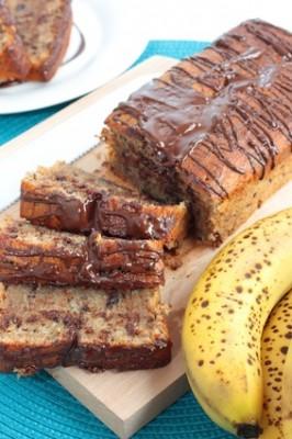 Receita de Bolo de Banana com Chocolate - Bolo-de-banana-com-chocolate-266x400