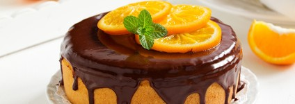 Bolo de Laranja com Chocolate