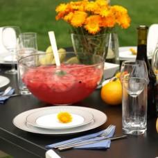 Ponche de Melancia e Eggnog na Poncheira