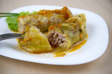 Cabbage rolls closeup