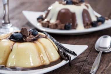 Receita de Pudim de Chocolate e Manjar Branco - Pudim-de-chocolate-e-manjar-branco-380x252