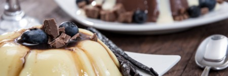 Pudim de Chocolate e Manjar Branco