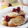 French toasts with cherry