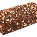 chocolate roll with nuts