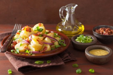 potato salad with bacon onion mustard