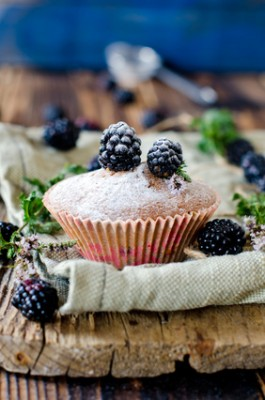 Receita de Muffin de Amora - Muffin-de-amora-265x400