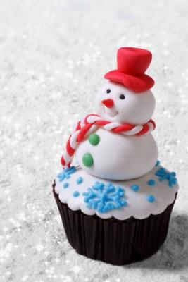 Receita de Cupcake Boneco de Neve - Cupcake-boneco-de-neve-267x400