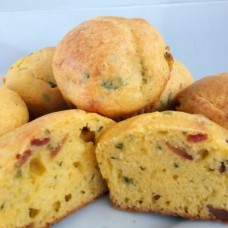 Muffin de Polenta e Bacon