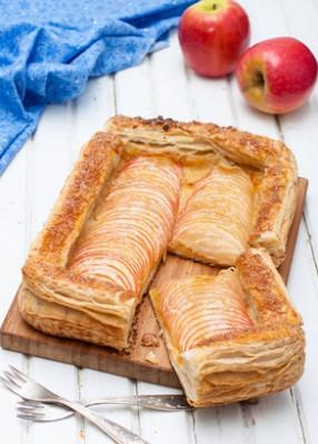 Receita de Torta Folhada de Maçã - Torta-folhada-de-maçã-286x400