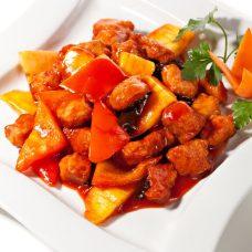 Carne de Porco com Abacaxi