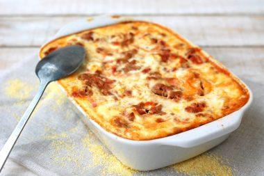 Receita de Polenta Gratinada com Bacon e Calabresa - Polenta-Gratinada-com-Bacon-e-Calabresa-380x253