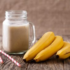 Pudim e Ponche de Banana