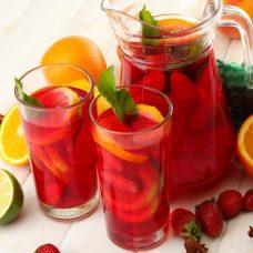 Ponche de Vinho Rosé