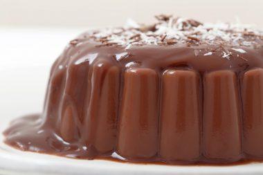 Receita de Pudim Pão-de-Mel - Pudim-manjar-de-chocolate-2-380x253