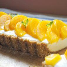 Torta de Pêssego em Calda